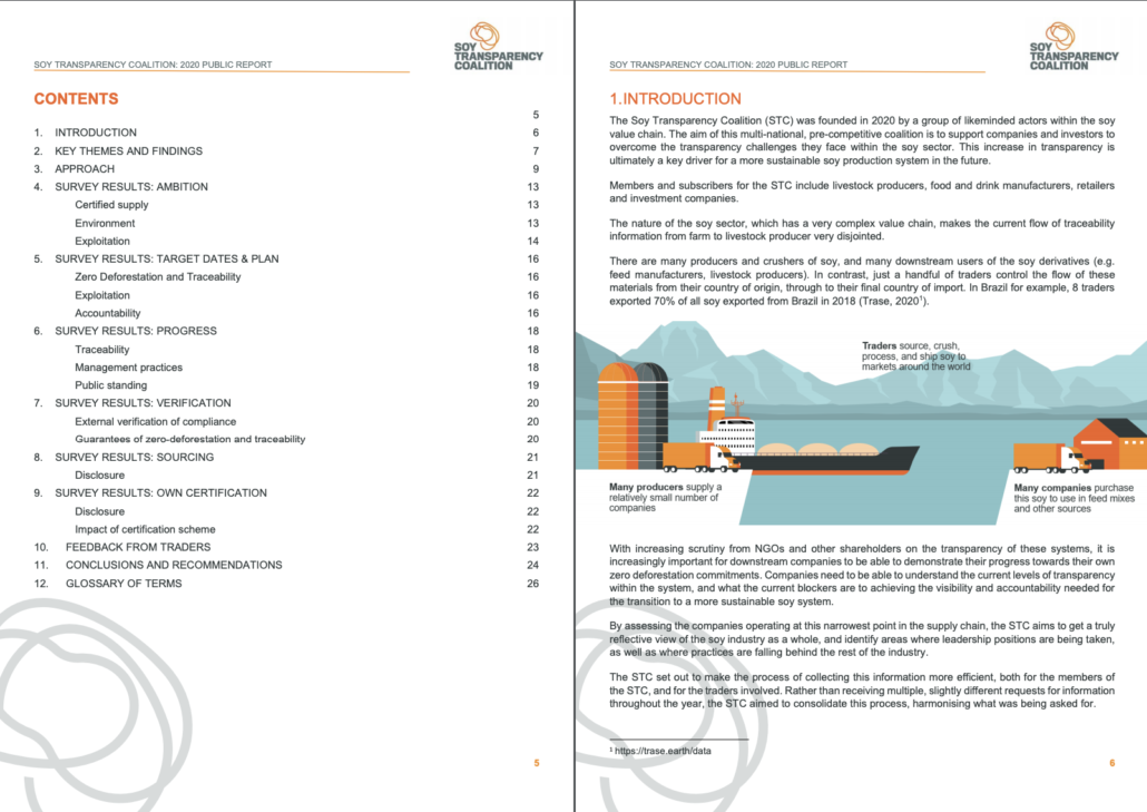 Image showing excerpt from STC Report